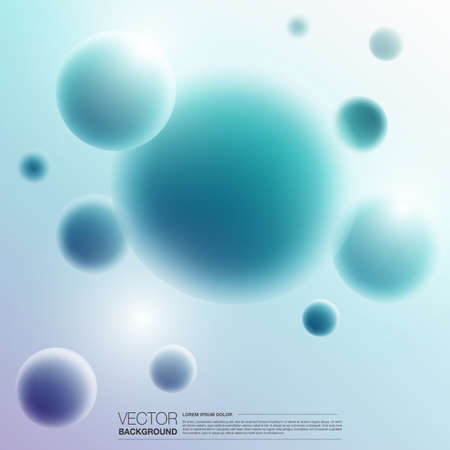 Abstract color spheres design background vector. Illustration