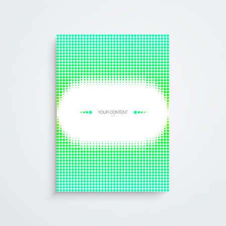 Abstract minimal A4  A3 format poster design with your text Eps 10 stock vector illustration.