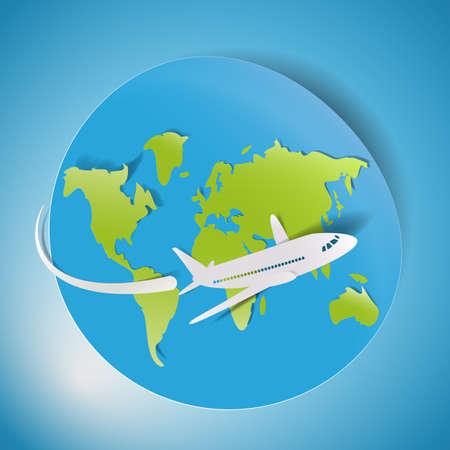 Paper world, airplane design