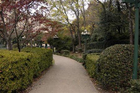 springs: Walking path on Bathhouse Row  in Hot Springs, AR