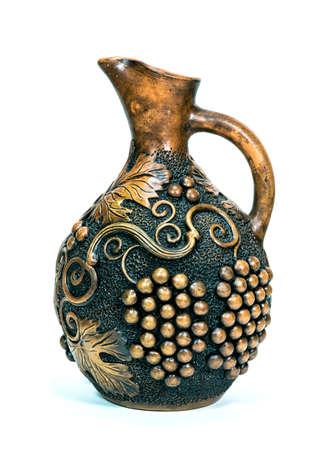 Ceramic jug isolated on white background
