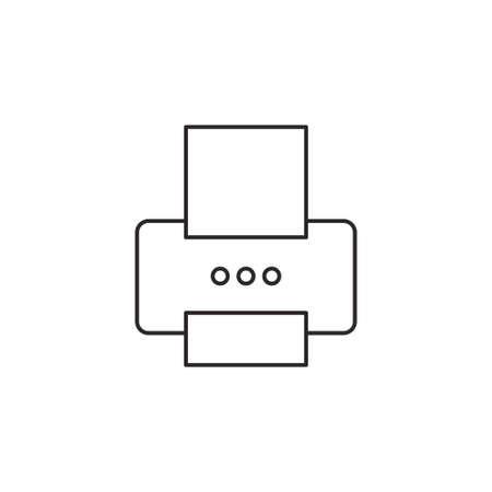 inkjet: Printer icon outline vector isolated on white background Illustration