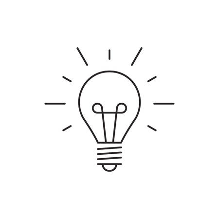 lamp outline: Idea icon outline lamp illustration vector isolated on white background