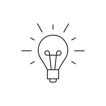 Pomysł ikony konturu lampowy ilustracyjny wektor odizolowywający na białym tle Ilustracje wektorowe