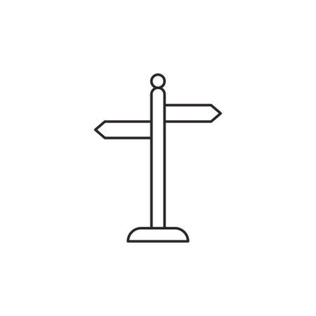 guidepost: Guidepost icon outline arrow vector contour isolated on white background