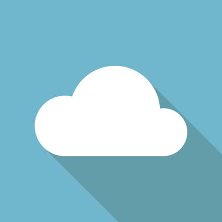 Cloud weather icon flat illustration vector