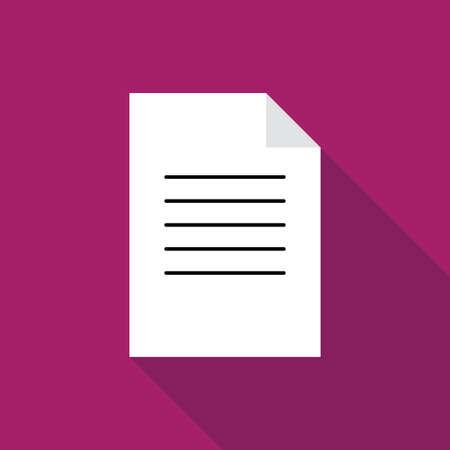 filling folder: Document paper icon flat illustration vector