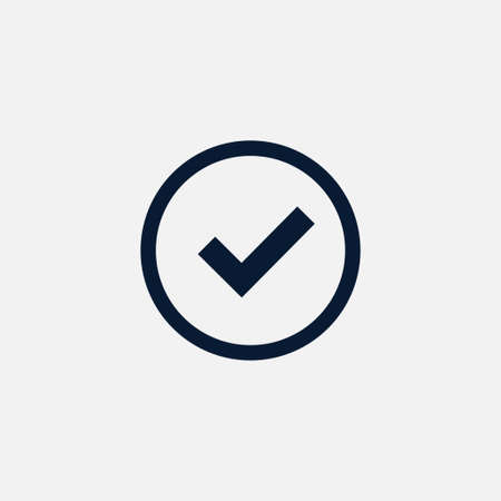 accept: Tick icon simple accept sign vector approve illustration Illustration