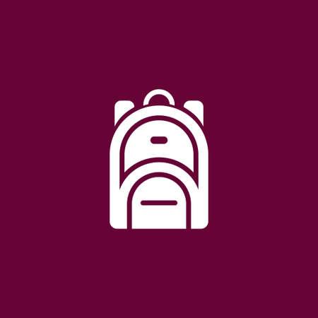 rucksack: Rucksack icon simple backpack sign vector illustration