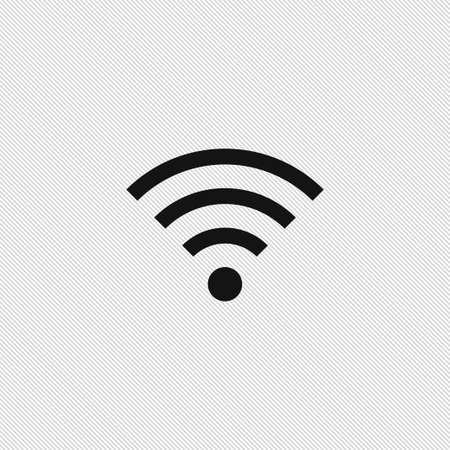 wireless internet: Wireless icon simple internet sign vector illustration Illustration