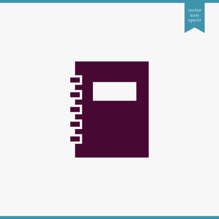 note book: Note book icon simple sign vector illustration