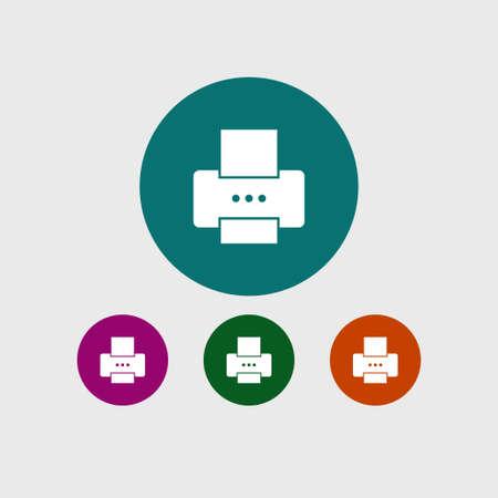 Printer icon simple vector illustration Illustration