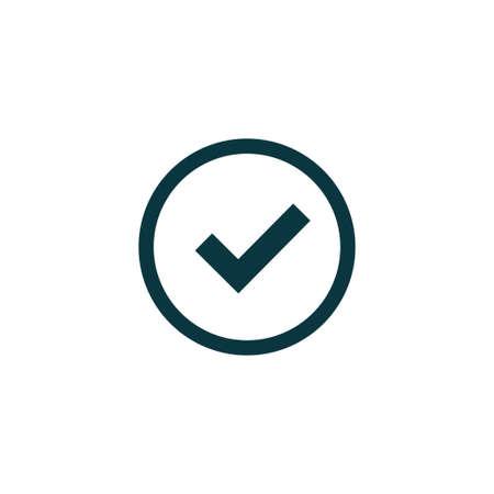 Tick icon simple accept sign vector approve illustration Ilustração