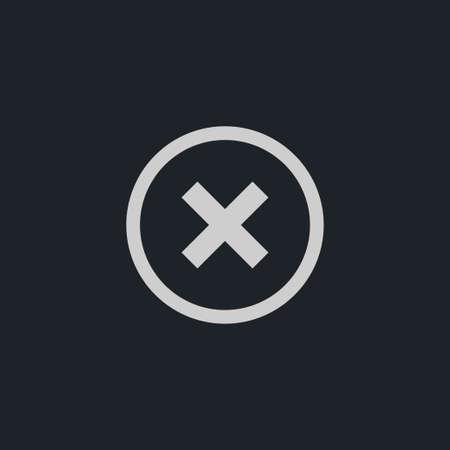 incorrect: Cross mark icon simple delete sign vector blocking  illustration