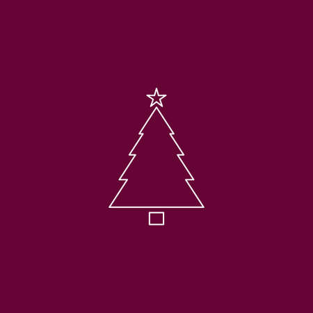 Christmas tree icon outline vector illustration Illustration