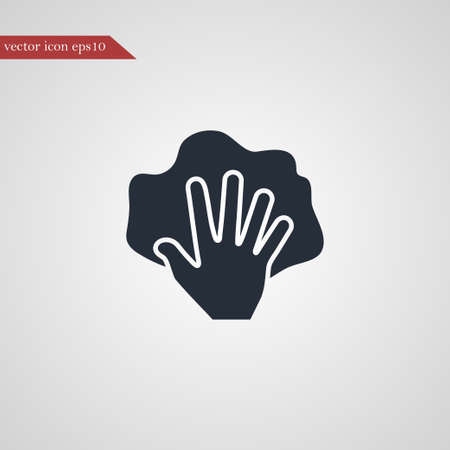 Hand with rag icon simple cleaning sign illustration vectorielle Vecteurs