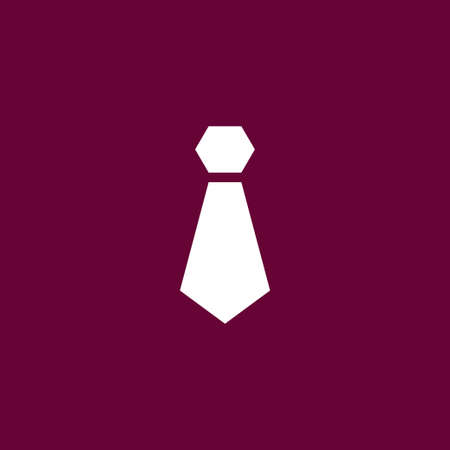 taylor: Tie icon simple business sign vector illustration