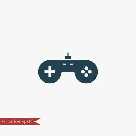 Game icon simple play sign vector illustration