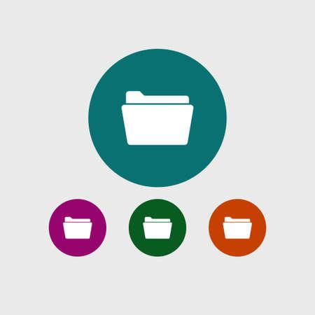 Folder icon simple office sign vector illustration