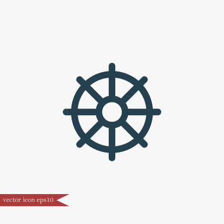 Helm marine icon simple vector illustration