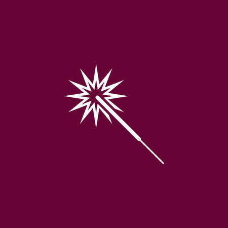 Sparkler icon simple party sign vector event illustration.