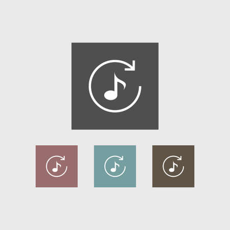 Music Note Icon Simple Repeat Sign Vector Illustration Royalty Free