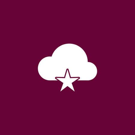 art processing: Cloud computing icon simple favorite sign vector illustration Illustration