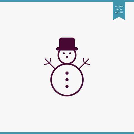 Snowman Icon Simple Winter Symbol Vector Illustration Royalty Free