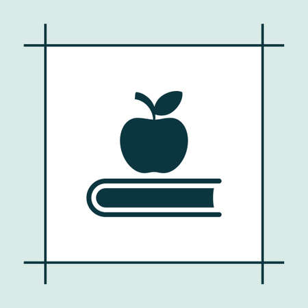 literature: Book icon simple education sign vector read  illustration apple symbol Illustration