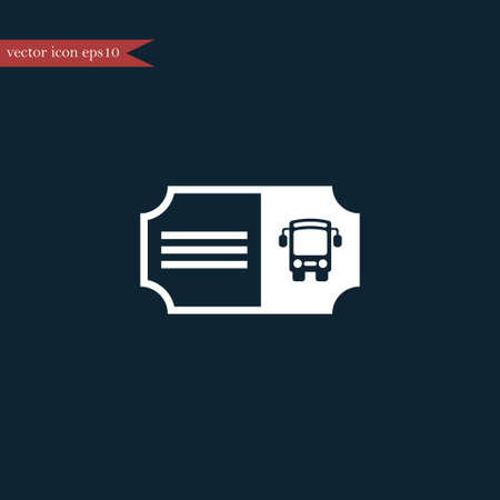 admit: Bus ticket icon simple sign vector illustration Illustration