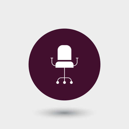 spinning: Office chair icon simple vector illustration