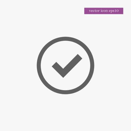 checklist: Tick icon simple accept sign vector approve illustration Illustration