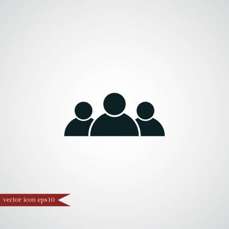 business team: Teamwork icon simple human symbol vector illustration