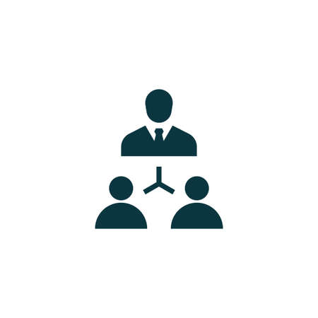 business team: Teamwork icon simple human sign vector business  illustration Illustration