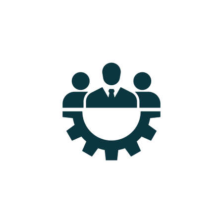 business team: Teamwork icon.