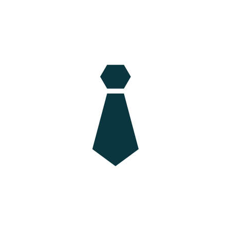 ネクタイ アイコン シンプルなビジネス サイン ベクトル図