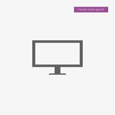 Tv icon simple sign vector illustration Illustration