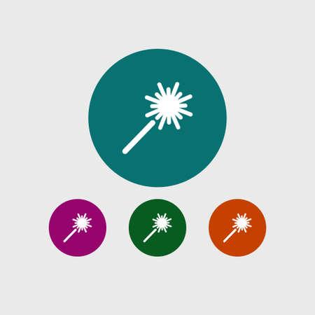 Sparkler icon. Ilustrace