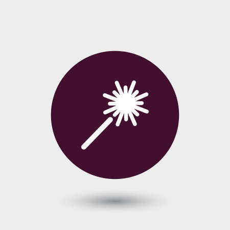 bengal: Sparkler icon simple party sign vector event illustration.