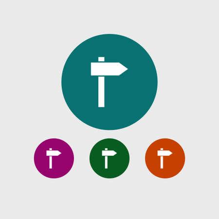 Guidpost icon simple signpost symbol vector illustration