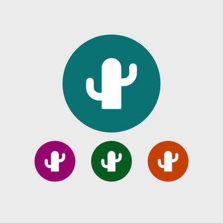 Cactus icon simple vector illustration