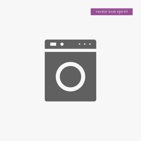 domestic: Washing mashine icon simple cleaning sign vector illustration Illustration