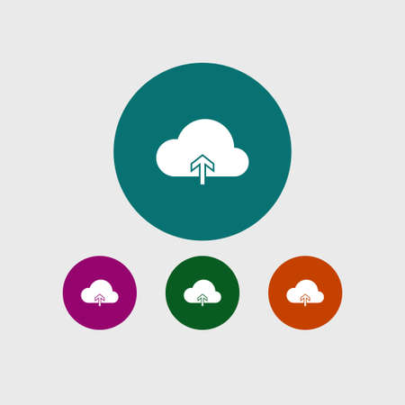 Cloud computing icon simple upload sign vector illustration