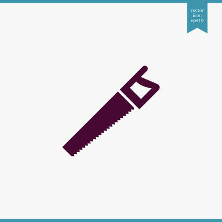 Saw icon simple construction sign vector illustration