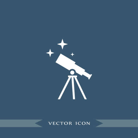 Telescope icon simple education sign vector office illustration