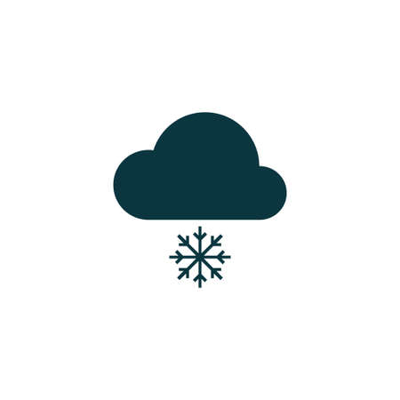 art processing: Cloud computing icon simple snowflake sign vector illustration