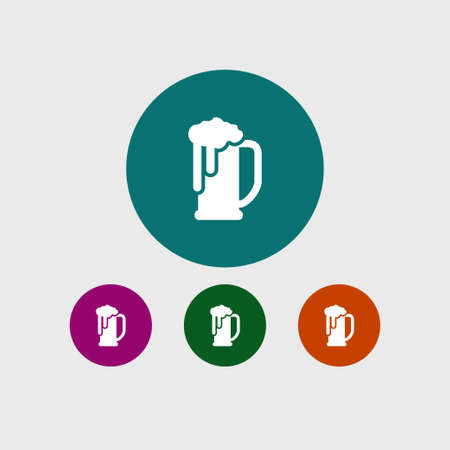 Beer icon simple drink sign vector illustration