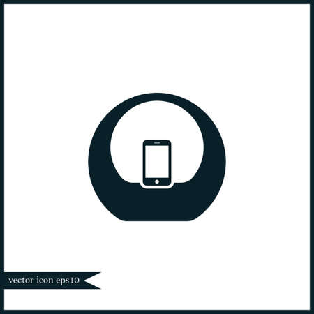 Audio sistem icon simple speaker sign vector doc station illustration symbol