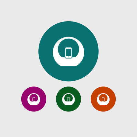 Audio sistem icon simple speaker sign vector doc station illustration symbol