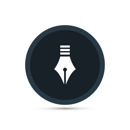 nib: Pen icon simple education sign vector office illustration Illustration